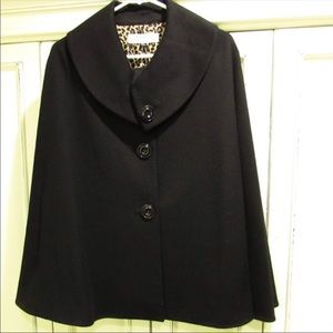 Black Tahari cape